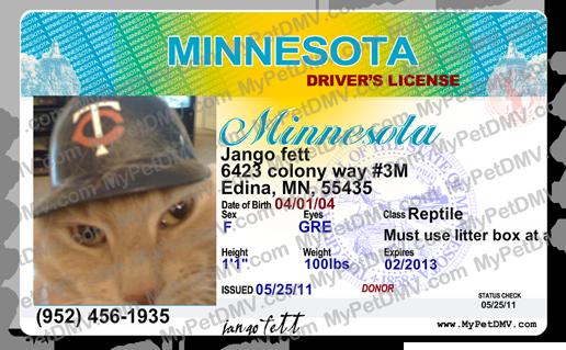 Minnesota Pet Id License